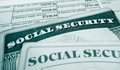 Ss and wages closeup of social security cards w wage form Stock Image