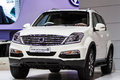 Ssangyong rexton car bangkok march on display at the th bangkok international motor show on march in bangkok thailand Royalty Free Stock Photo