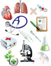 Sset of medicine objects. Royalty Free Stock Photo