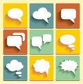 Sset speech bubble icons set for web or for device management Royalty Free Stock Photography