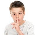 Ssh! Silence please. Royalty Free Stock Images