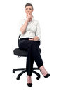Sshhh everyone remain silent please isolated corporate lady gesturing silence Stock Images