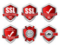 SSL Protection Secure Red Shield Vector Icon