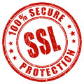 Ssl secure protection stamp on white background Stock Images