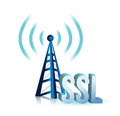 Ssl tower wifi illustration design over a white background Royalty Free Stock Image