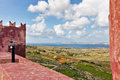 St agatha s tower landscape on malta island with the sea and a nice sky Stock Photo
