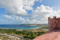 St agatha s tower landscape on malta island with the sea and a nice sky Stock Images