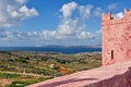 St agatha s tower landscape on malta island with the sea and a nice sky Royalty Free Stock Images