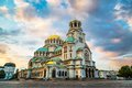 St. Alexander Nevski Cathedral in Sofia, Bulgaria Royalty Free Stock Photo