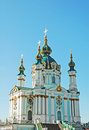 St. Andrew's church in Kiev Royalty Free Stock Photos
