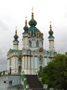 St. Andrew's Church in Kiev Stock Photography