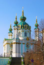 St. Andrew's church, Kiev, Ukraine Royalty Free Stock Photos