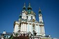 St andrew s church kiev in ukraine orthodox in honor of built in baroque style by architect bartolomeo rastrelli Stock Photos