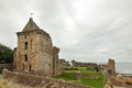 St andrews castle ruins medieval landmark fife scotland uk Royalty Free Stock Images