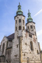 St andrews church on grodzka street by sunny day krakow poland Royalty Free Stock Image