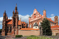 St. Anna's Church in Vilnius, Lithuania. Stock Photography