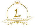 St anniversary design floral for a of a marriage or business vector available Royalty Free Stock Images