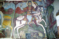 St anthony art a fresco in the coptic church of in egypt Stock Photography