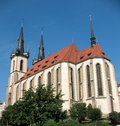 St. Anthony of Padua Cathedral in Prague Stock Photo