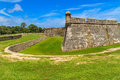 St augustine fort castillo de san marcos national monument florida Stock Photo
