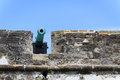 St augustine fort florida castillo de san marcos national monument wall and cannon detail Stock Photos