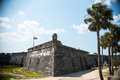 St. Augustine Fort Florida Landscape Royalty Free Stock Photo