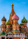 St basil cathedral domes in s in moscow Royalty Free Stock Image