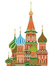 St basil cathedral isolated vector illustration of Stock Images