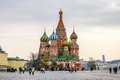 St basil cathedral in moscow russia on the red square Stock Images