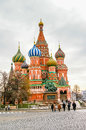 St basil cathedral in moscow russia on the red square Stock Photo