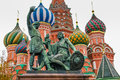 St basil cathedral in moscow russia on the red square Royalty Free Stock Photo