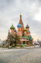 St basil cathedral in moscow russia on the red square Stock Image