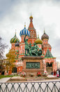 St basil cathedral in moscow russia on the red square Stock Photos