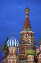 St basil cathedral by night in moscow russia Royalty Free Stock Photo