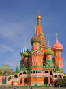 St basil cathedral on red square cathedral of the protection of the virgin on the ditch moscow russia Royalty Free Stock Image