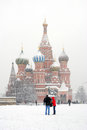 St. Basil Cathedral in winter Royalty Free Stock Photo