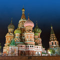 St Basil Cathedral,  Red Square, Moscow Royalty Free Stock Photo