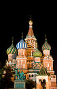 St. Basil Cathedral on Red Square, Moscow, Russia Stock Image