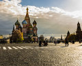 St basil chapel cathedral in a sunny afternoon Royalty Free Stock Images