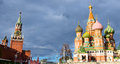 St basil red square image of and cathedral Stock Photo