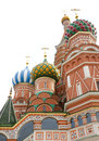 St. Basil's Cathedral in Moscow Royalty Free Stock Photo