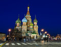 St basil s cathedral night scence of on red square moscow russia Stock Images