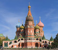 St basil s cathedral on red square cathedral of the protection of the virgin on the ditch moscow russia Stock Photo
