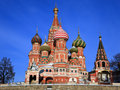 St. Basil's Cathedral on Red square, Moscow Royalty Free Stock Image