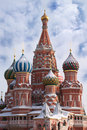 St. Basil's Cathedral on Red Square in Moscow Royalty Free Stock Photo
