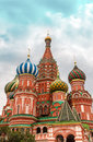 St basil s cathedral on red square in moscow Royalty Free Stock Images