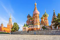 St. Basil`s Cathedral on Red Square in Moscow Royalty Free Stock Photo