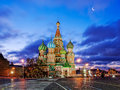St. Basil's Cathedral on the Red Square of Moscow Kremlin Royalty Free Stock Photo