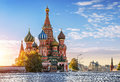 St. Basil's Cathedral on Red Square in Moscow and nobody around Royalty Free Stock Photo