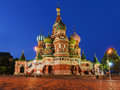 St. Basil's Cathedral on Red Square in Moscow, Russia. (Night vi Royalty Free Stock Photo